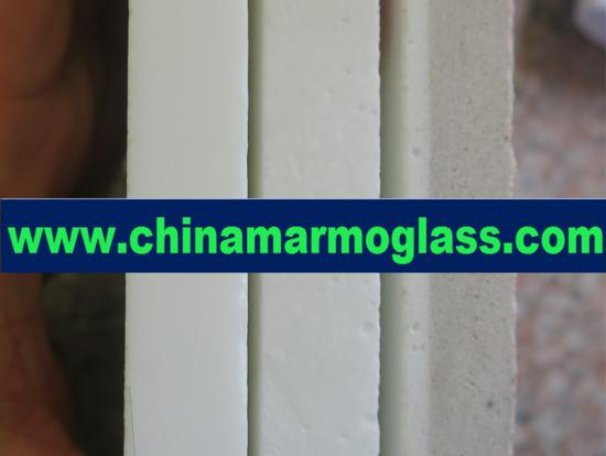 Marmoglass Tiles and Pure white marmo glass tile from China Crystallized Marmo Glass