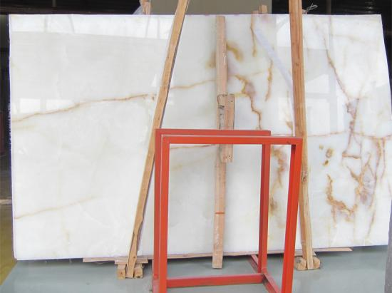 Backlit White Onyx Slabs And Tiles For Interior Decoration