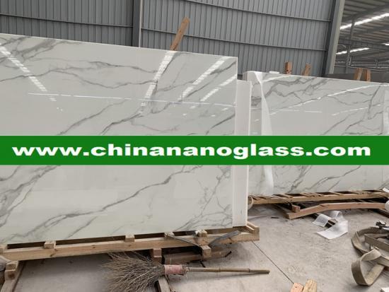 Calacata gold Nanoglass marble price for polish slabs and tiles