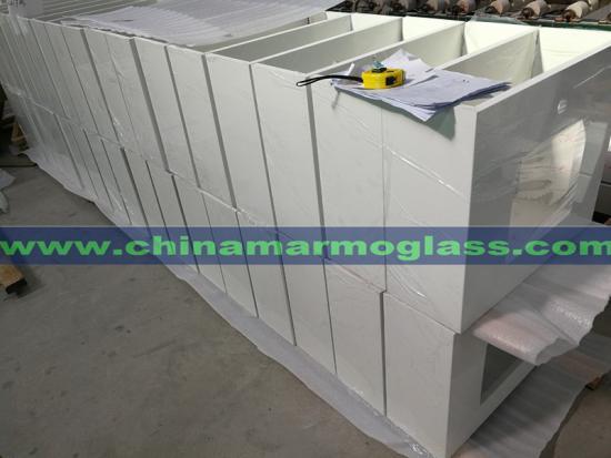 Pure White Quartz Countertops by Tianrun Stoneglass