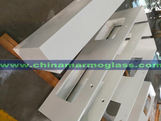 Pure White Quartz Kitchen Countertops China Quartz Stone Factory