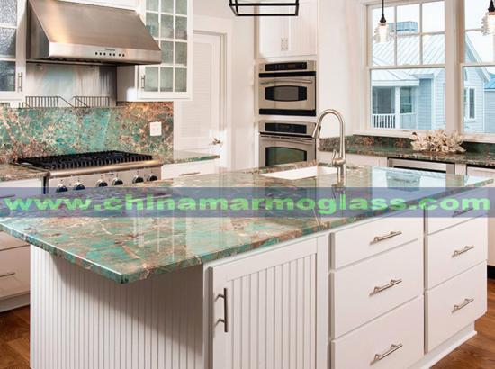 Amazonite Granite Polished Green Granite Slabs