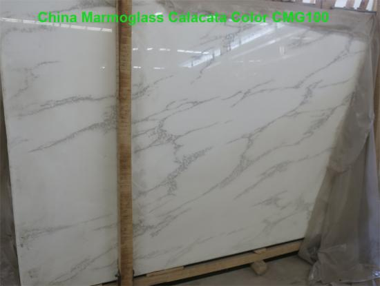 Calacatta Glass Stone Slabs for kitchen and bathroom