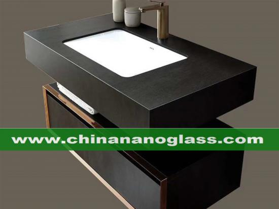 Basalt Grey Basalt Black Sintered Stone Vantity Tops