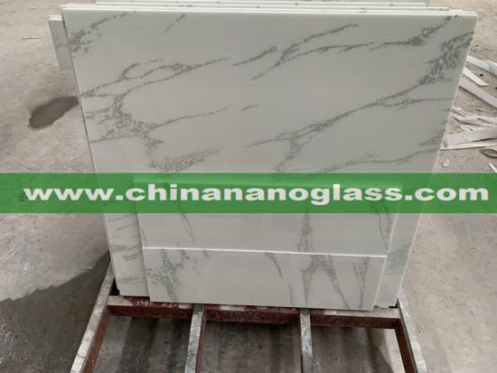 Calacatta Marmo Glass Slabs