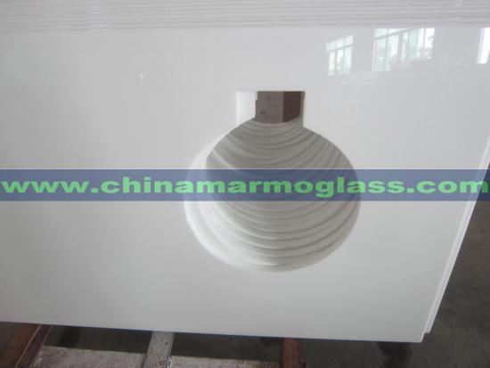 Nano White Glass Nano Crystallized Stone for Interior Countertops Decoration