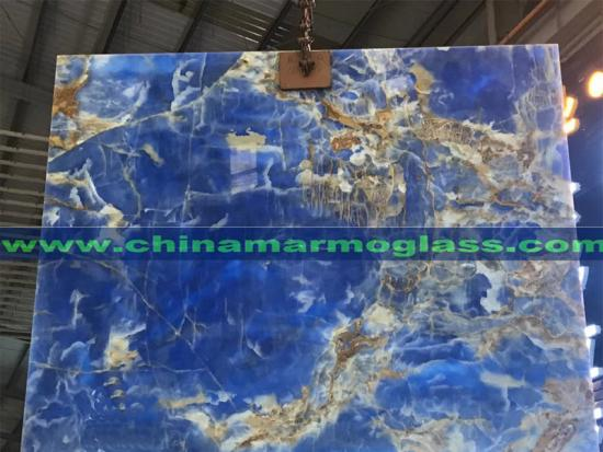 Transparent Blue Onyx Slab