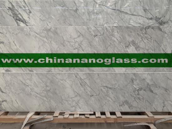 Carrara White Nano Glass Slab