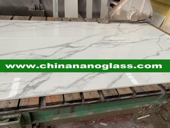 White Calacata Calacatta Nanoglass with good price
