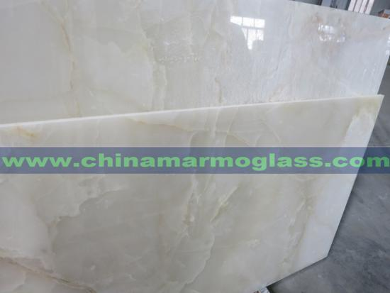 Super White Color of Snow White Onyx Slabs