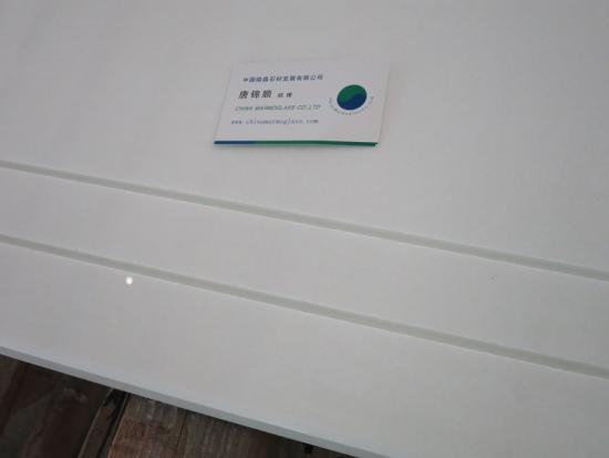 Pure White Quartz Stone Kitchen Countertop