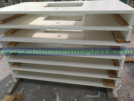 High Quality Customized Quartz Stone Countertops Table Tops Work Tops In Low Cost