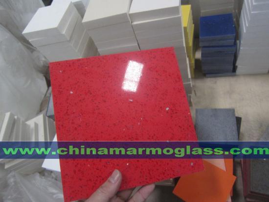 Amazing Sparkling Decorative Surface of Crystal Shining Red Quartz Stone