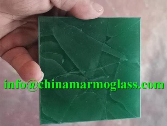 Jade Green Color Recycled Glass Stone Slabs for Eco-Friendly Bio Glass Countertops
