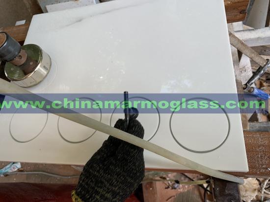 Marmoglass Kitchen Countertops with Basin