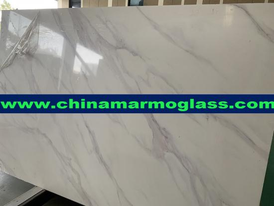 Factory Price Artificial Calacatta White Marble Artificial Marble Stone Slab