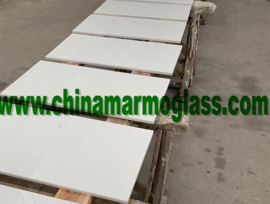hot selling to USA market the white glass tile 610x305x12mm