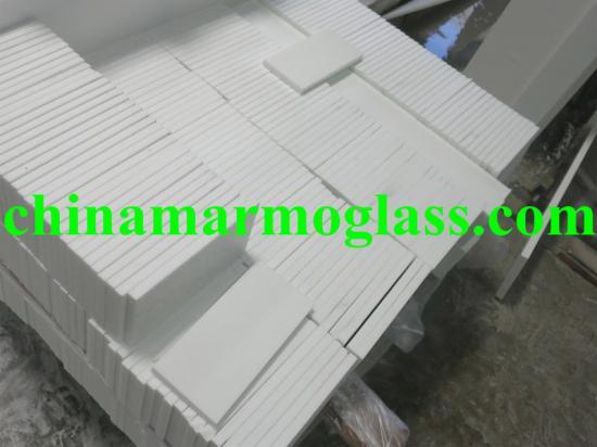 White Marmo Glass Stone Tiles