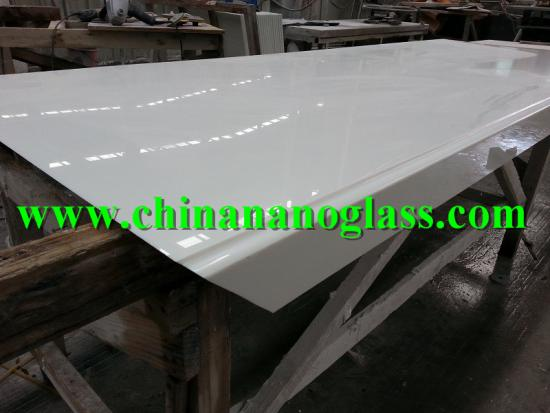 White nano glass Bathroom Vanity tops
