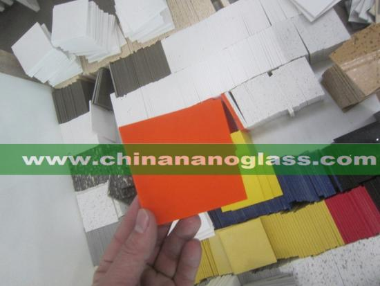 Pure Orange Quartz Stone Solid Surfaces Polished Slabs Artificial Stone Slabs for Hotel Kitchen Bathroom Countertops Backsplash