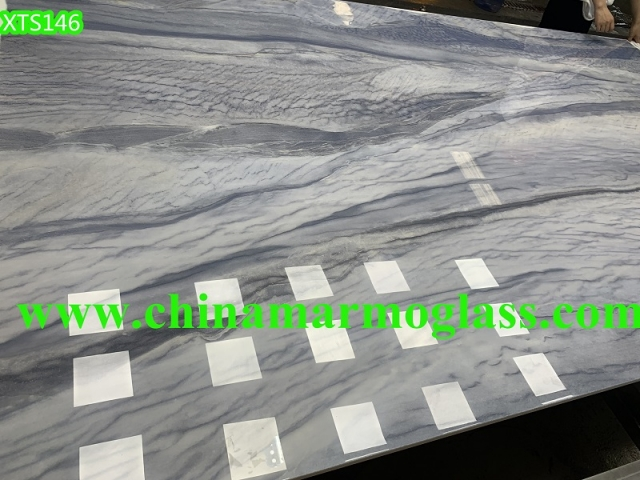 Azul Macaubas Nano Glass Marble Effect Large Slabs