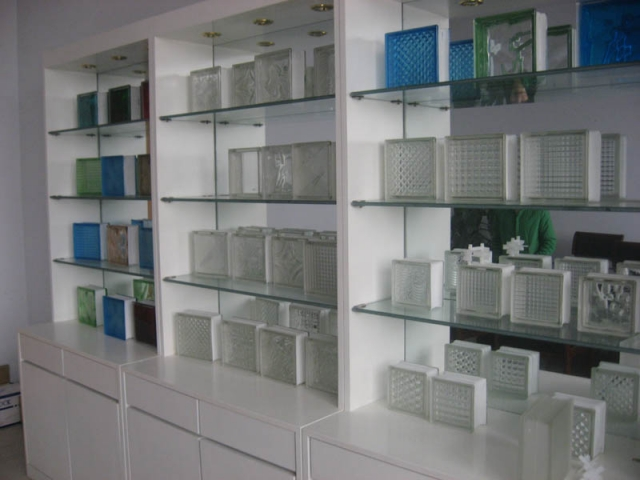 Glass Brick and Glass Block 190x190x80mm for Decoration