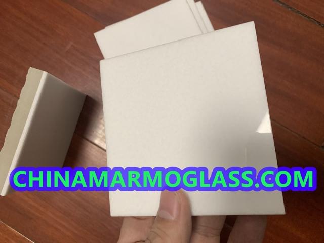 white crystal glass tile 600x600mm
