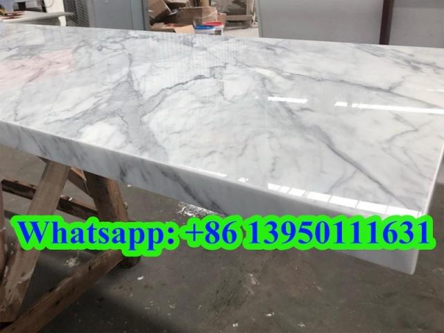 white carrara Nano Glass countertops to USA