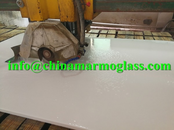 Nano White Glass Marble Slabs