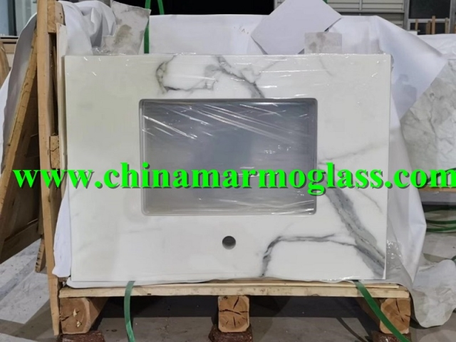 Low Price CALACATTA Nanoglass Countertops Manufacturers
