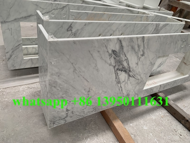 New Nanoglass Carrara White Countertops project to USA market