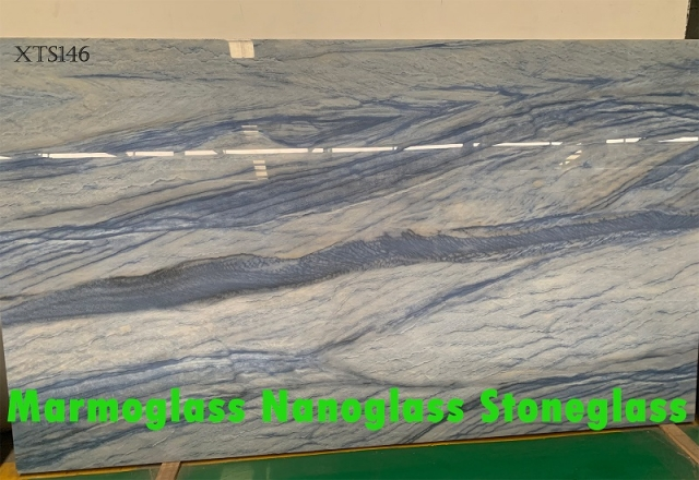 Nano Calacatta XTS146 glass marble look slabs