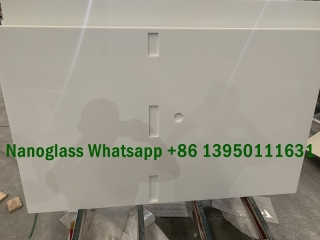 white nano-crystallized glass vanity tops manufacturers fact...