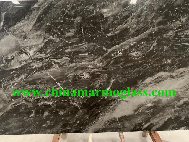 Nano glass marble look slabs XTS124